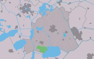 Doniaga - Image: Map NL Skarsterlân Dunegea