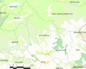 La Caunette - Map