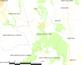 Mapa obce Culles-les-Roches