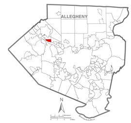 Map of Glenfield, Allegheny County, Pennsylvania Highlighted.png