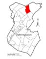 Map of Huntingdon County, Pennsylvania Highlighting Barree Township.PNG