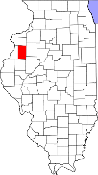 Locatie van Warren County in Illinois