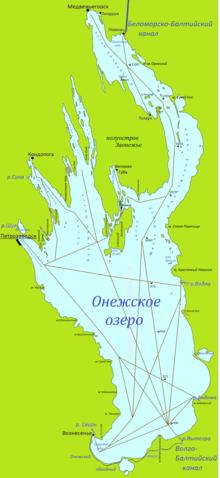 карта глубин сегозера