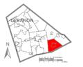 Map of Lebanon County, Pennsylvania Highlighting Heidelberg Township.PNG
