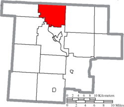 Location of Bloom Township in Morgan County