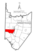 Map of Armstrong County, Pennsylvania highlighting North Buffalo Township