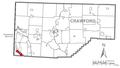 Map of Pymatuning South, Crawford County, Pennsylvania Highlighted.png