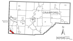 Location of Pymatuning South in Crawford County