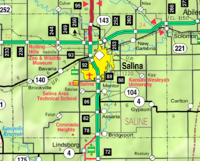 Map of Saline Co, Ks, USA.png