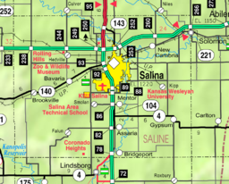 Map of Saline Co, Ks, USA.png