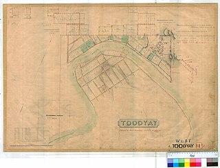 West Toodyay locality in Western Australia
