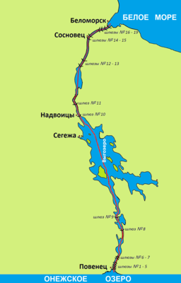 Map of the White Sea-Baltic Canal.png