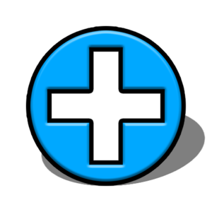 tourism map hospital or medical centre symbol
