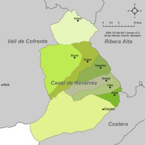 Canal de Navarrés - Municipalities of Canal de Navarrés