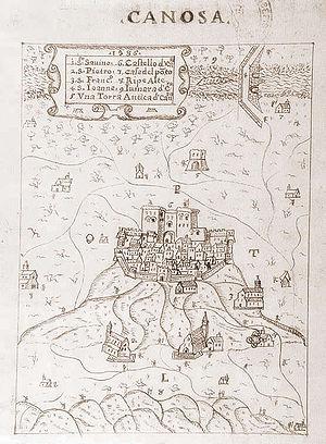 Canosa di Puglia - Medieval map of Canosa
