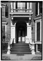 March 1960 DETAIL OF MAIN ENTRANCE - Emily Smith House, 29 Remson Avenue, New Brunswick, Middlesex County, NJ HABS NJ,12-NEBRU,16-4.tif