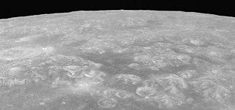 Mare Anguis - Oblique view from Apollo 17