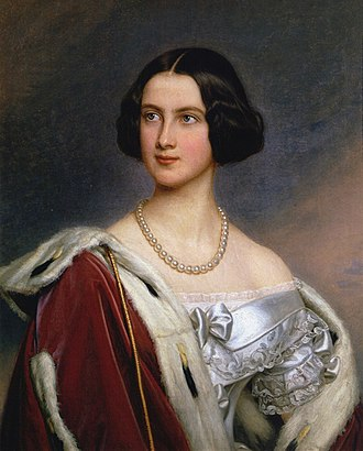 Marie of Prussia - Marie of Prussia as Crown Princess of Bavaria, by Joseph Karl Stieler, 1843, Gallery of Beauties, Nymphenburg Palace