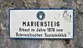 Mariensteig, In der Eng, sign.jpg