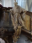 Marienstiftskirche Lich Kanzel Bernhard von Clairvaux 02.JPG