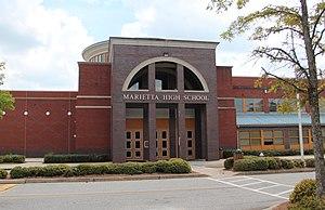 Marietta High School (Georgia) - Image: Marietta High School, April 2017