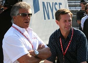 Andretti curse - Mario Andretti (left) with his nephew John Andretti (right) at the 2007 Indy 500