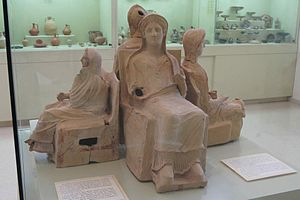 Marion, Cyprus - unique styles of terracottas from tomb contents, Marion, Polis Museum