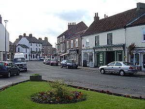 Pocklington - Pocklington Market Place in 2005