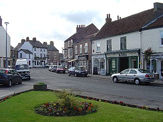 Pocklington - Pocklington Market Place in 2005