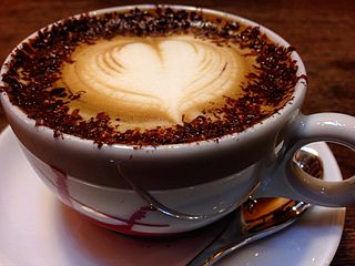 Marocchino Italian drink made with coffee and cocoa
