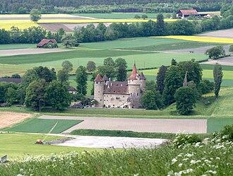 Landquart, Switzerland - Image: Marschlins Ansicht Südseite