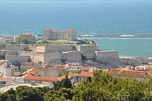 Marseille (France), Fort Saint-Nicolas and Palais du Pharo.JPG