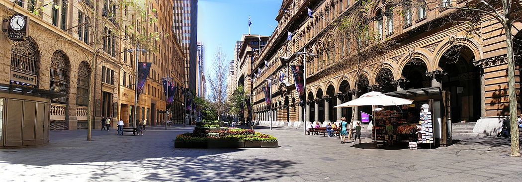 Martin Place is often recognised as being the civic heart of Sydney, being home to various corporations, retail and tourist attractions Martinsplace.jpg