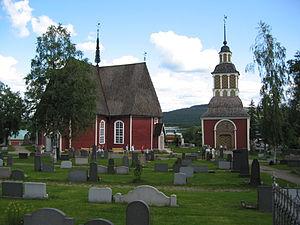 Övertorneå - Image: Matarengi Church exterior
