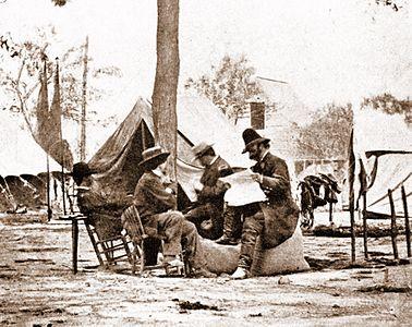 Mathew Brady %26 Ambrose Burnside, 1863