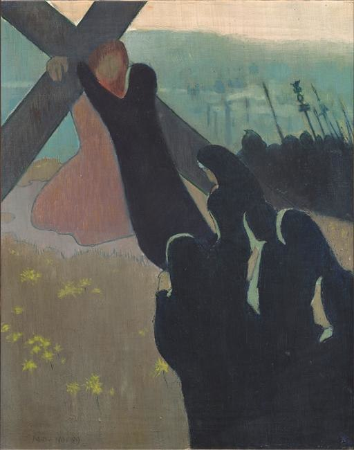 Maurice Denis, 1889, Le Calvaire (Climbing to Calvary), oil on canvas, 41 x 32.5 cm, Musée d'Orsay