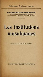 Maurice Gaudefroy-Demombynes French historian of religion