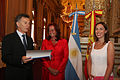 Mauricio Macri distingue como huésped de honor a la secretaria general de la UCCI.jpg