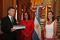 Mauricio Macri distingue como huésped de honor a la secretaria general de la UCCI.jpg
