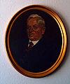 Max Müller 1873 - 1952 ovales Portraitgemälde in Rahmen an Bürowand mit Schatten.jpg