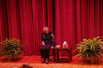 Tennessee Technological University - Maya Angelou speaking in the Derryberry Hall Auditorium in 2012