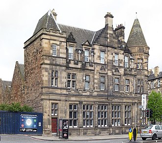 McDonald Road Library - Panorama view from the corner of Leith Walk and Brunswick Street.
