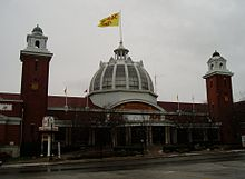 The Medieval Times building in Exhibition Place, Toronto, Canada
