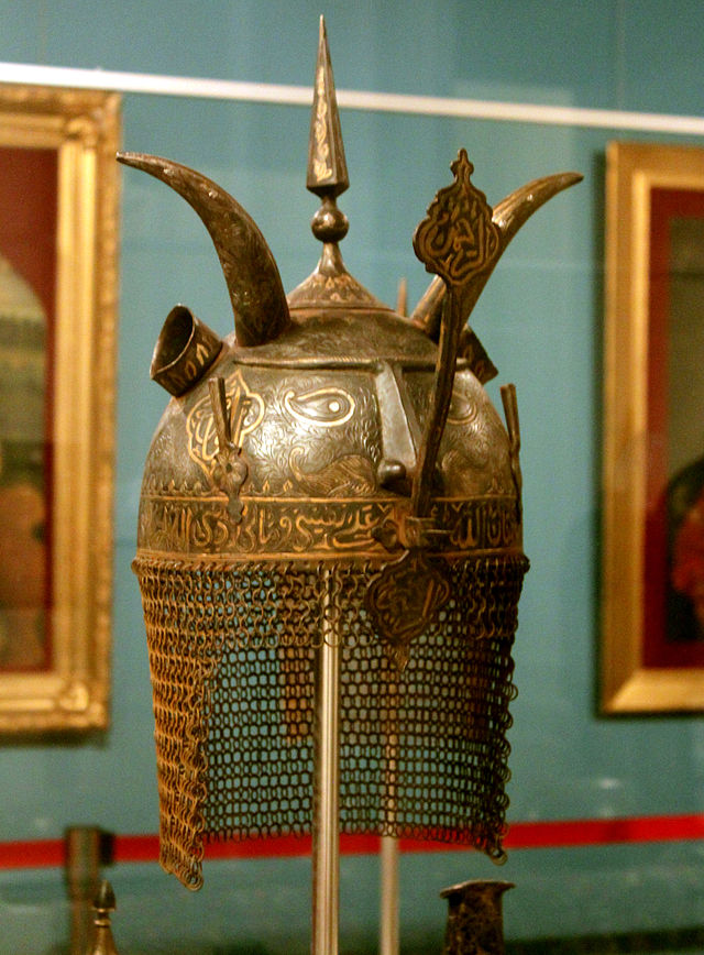 Indo-Europeans.  Индо-Европейцы.  640px-Medieval_azerbaijani_helmet_3