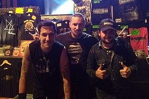 Dagoba (band) - Members after a concert in 2017.