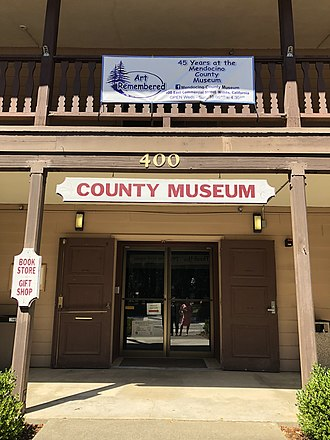 Willits, California - Mendocino County Museum in Willits