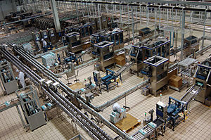 Mengniu Dairy - Mengniu production line in plant near Hohhot, Inner Mongolia