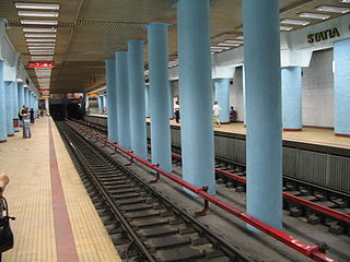 Obor metro station metro station in Bucharest, Romania