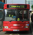 Metrobus bus 216 (SN03 WMP) 2003 Transbus Dart Transbus Pointer, East Croydon bus station, route T33, 10 July 2011.jpg