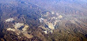 Claypool, Arizona - Panorama of mining operations, Claypool and Miami, Arizona
